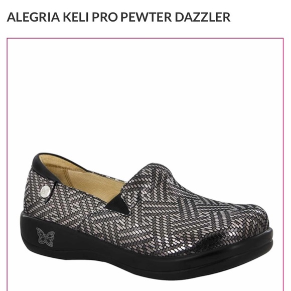 ALEGRIA KELI PRO PEWTER DAZZLER Professional Shoes
